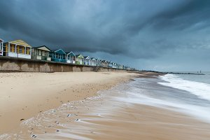 Beach Huts at Southwold Pier