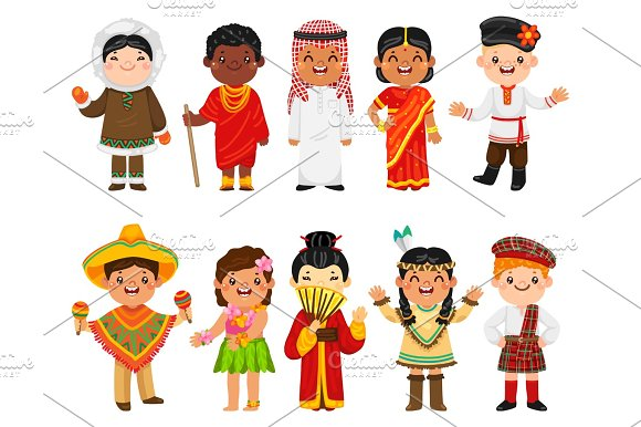Children Of Different Nationalities Collection