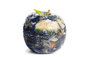 3d apple Earth