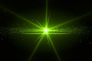 Background with a green star in the middle