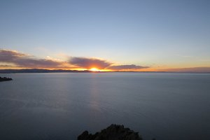 Vast sunset - Lake Titicaca