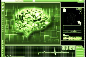 Green background brain interface technology