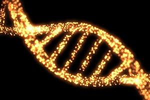 Orange DNA Helix Background