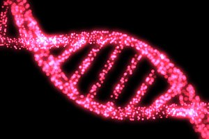 Pink DNA Helix Background