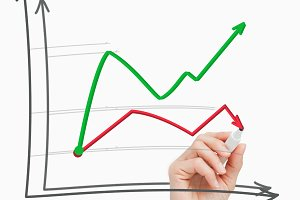 Drawing a chart with a pen