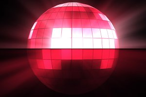 Pink disco ball background