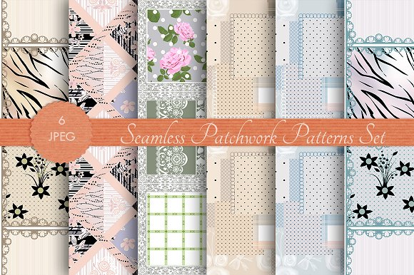 PATCHWORK Seamless Pattern Set Vol 3