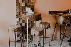 Creative Interior of Modern Cafe
