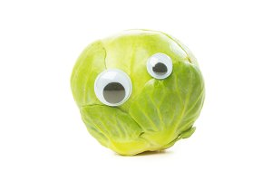 Funny Brussels Sprout With Eyes