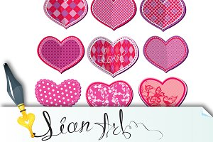 Scrapbook set of hearts
