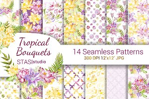 Summer Flowers Digital Paper Pack