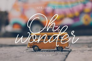 Oh Wonder Font + Bonus Font & Logos