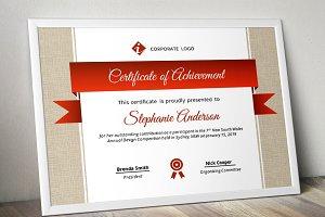 Burlap certificate template (pptx)