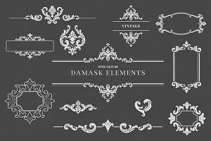 Vintage Damask Elements III