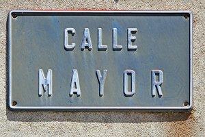 Calle Mayor in Spain