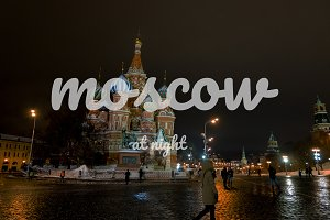 Moscow at night : Set of 6