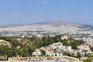 Panoramic of Athens, Greece