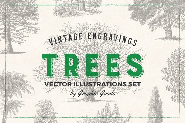 Trees - Vintage Illustrations Set