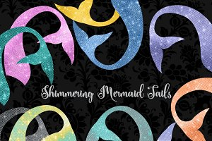Shimmering Mermaid Tails Clipart
