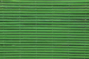 wooden blind painted in green