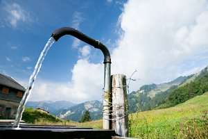Water Pump In The Austrian Alps