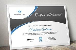 Curve Bar Modern Certificate (pptx)