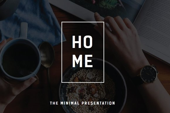 Home Minimal Powerpoint Template