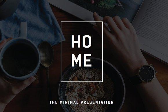 Home Minimal Keynote Template