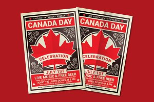 Canada Day Flyer Template