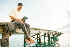 Businessman By The Sea