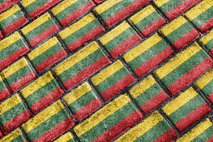 Lithuania Flag Urban Grunge Pattern