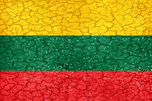 Lithuania Grunge Style National Flag