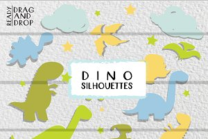DINO SILHOUETTES *PASTELS*