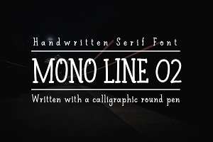 60% discount Mono Line 02 serif font
