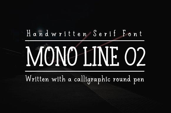 Mono Line 02 Serif Font