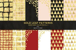 Hand Made Gold Leaf Digital Patterns