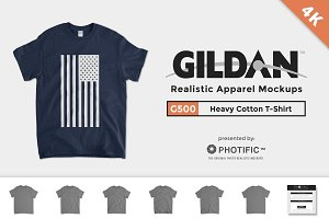 Gildan 5000 Heavy Cotton T Mockups