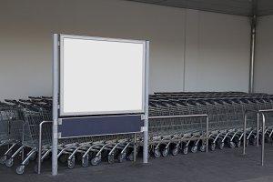 Blank billboard supermarket