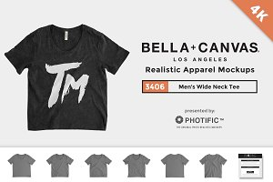 Bella Canvas 3406 Wide Neck Tee