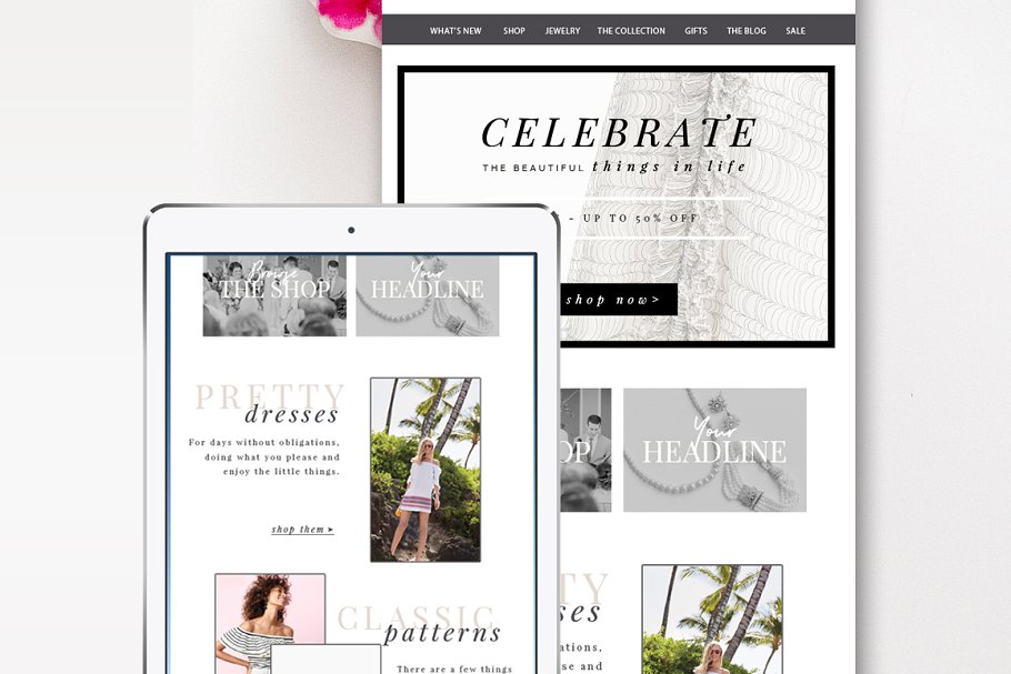Fashion E-Commerce Email Template ~ Other Platform Email Templates