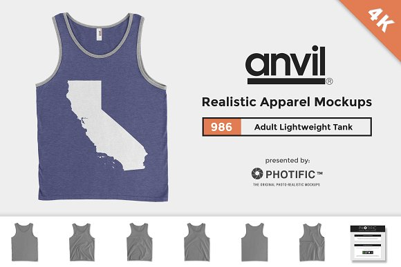 Anvil 986 Lightweight Fashion Tank