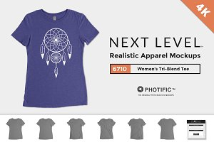 Next Level 6710 Tri-Blend Tee