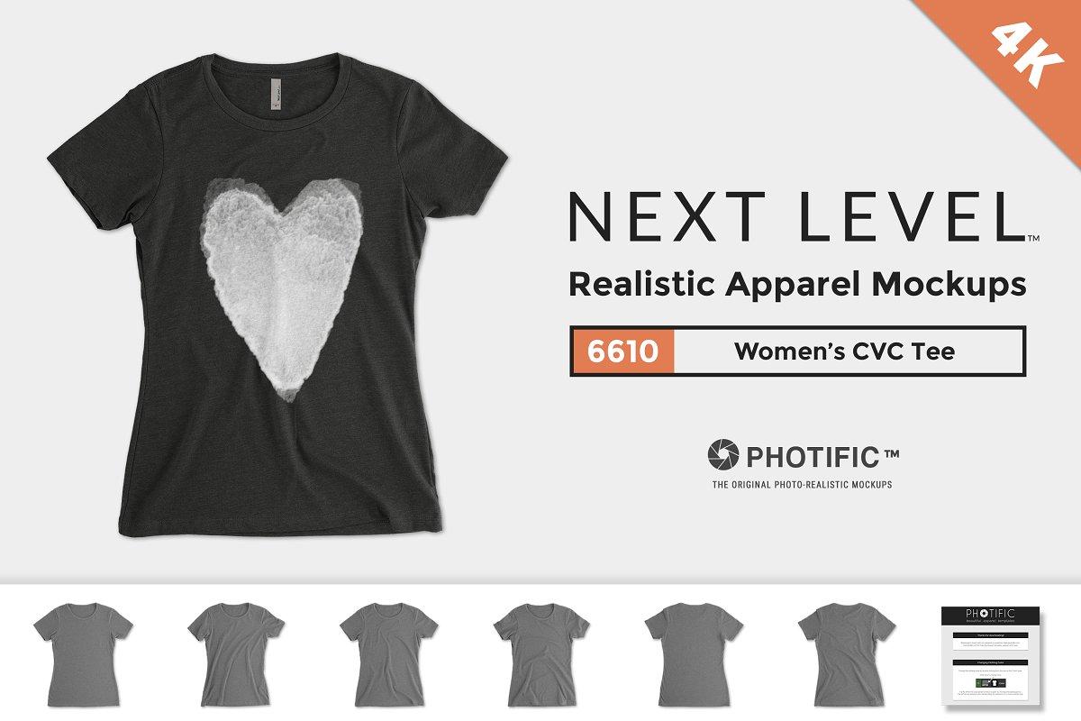 0402399a3e8 Next Level 6610 Women s CVC Tee ~ Product Mockups ~ Creative Market