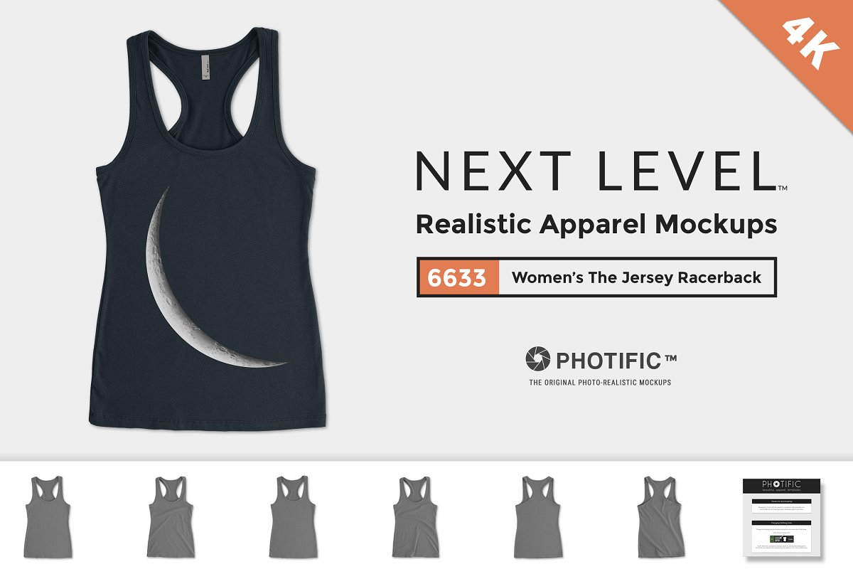0331f510 Next Level 6633 Mockups Tank Top ~ Product Mockups ~ Creative Market