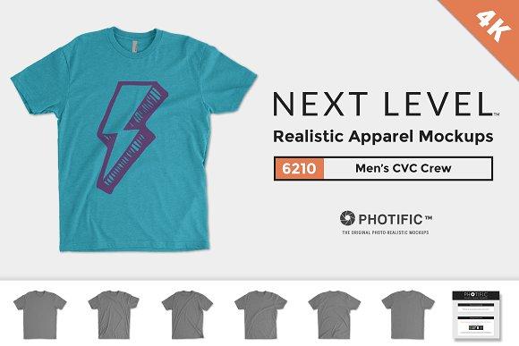 Free Next Level 6210 Men's CVC Crew