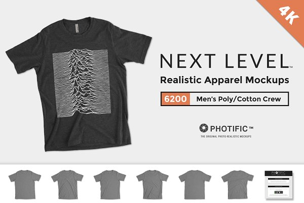 Next Level 6200 Poly/Cotton Mockups
