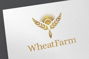 Wheat Farm Logo Template
