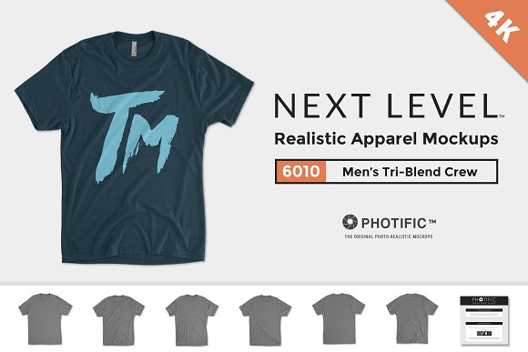 Free Next Level 6010 Men's Tri-Blend Crew
