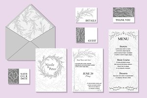Wedding Vector Invitation Suite