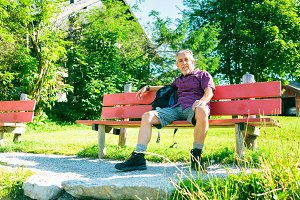 Hiking Senior Man